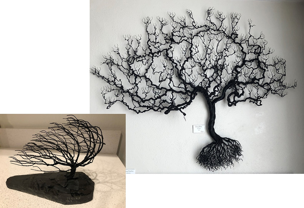 Doug Adam's wire trees.