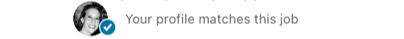 LinkedIn's notification of a personal job match.
