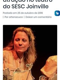 Blog Arte na Cuca, Joinville-SC, 25-10-2019