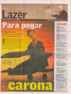 Jornal de Santa Catarina, Blumenau/SC, 13/10/2010