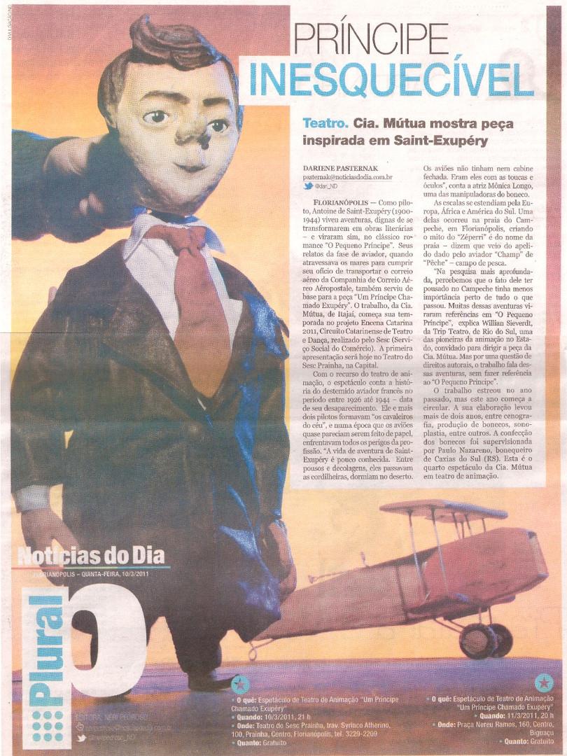 Notícias do Dia, Florianópolis/SC, 10/03/2011