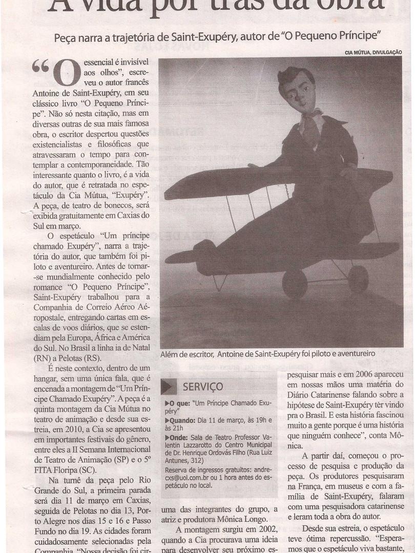 Folha de Caxias, Caxias do Sul/RS, 19/02/2014