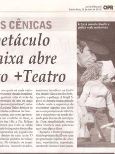 Jornal O Paraná, Cascavel/PR, 16/05/2013