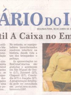 Diário do Iguaçu, Chapecó/SC, 30/06/2014