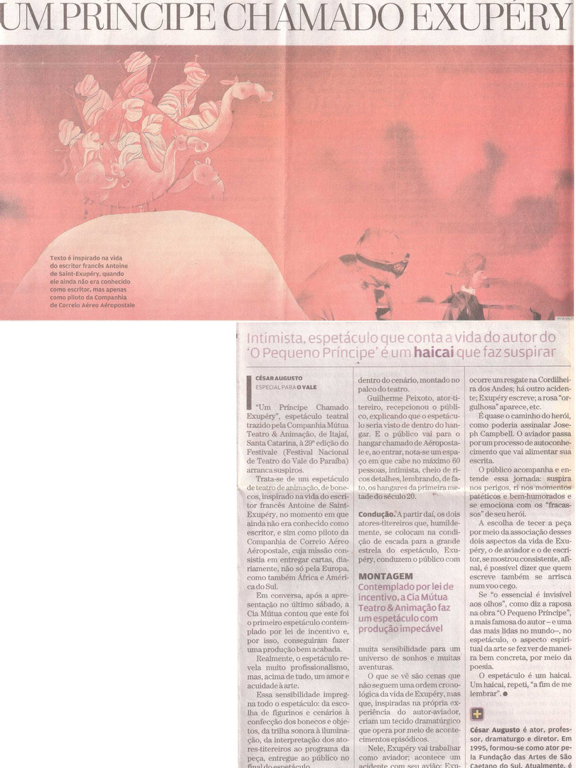 Jornal O Vale, São José dos Campos/SP, 09/09/2014
