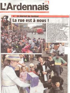Jornal L´Ardennais, Charleville/França, 25/09/2009
