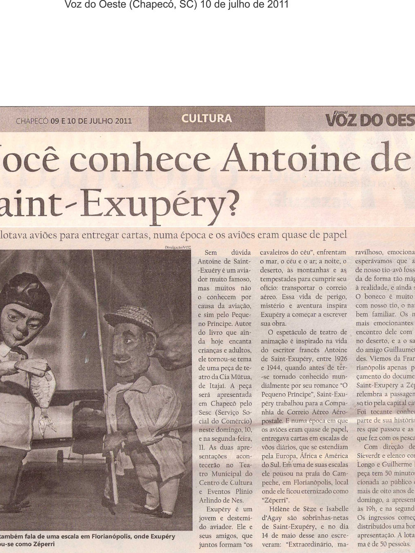Voz do Oeste, Chapecó/SC, 10/07/2011
