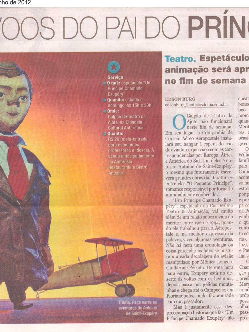 Noticias do Dia, Florianópolis/SC, 16/06/2012