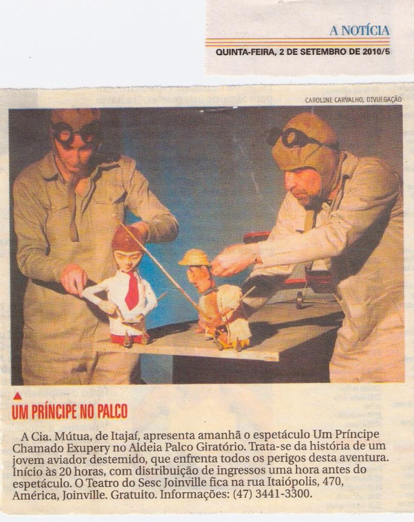 Jornal A Notícia, Joinville/SC, 02/09/2010