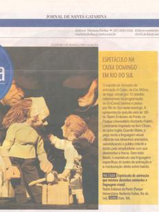 Jornal de Santa Catarina, Blumenau/SC, 11/07/2014
