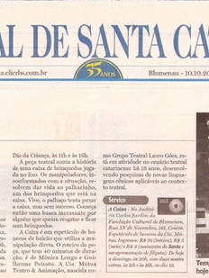 Jornal de Santa Catarina, Blumenau/SC, 10/10/2006