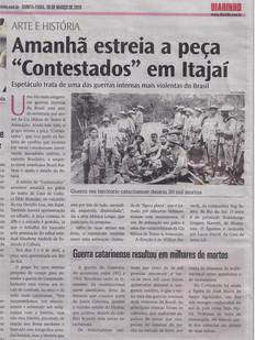 Jornal Diarinho, Itajaí/SC, 28/03/2019