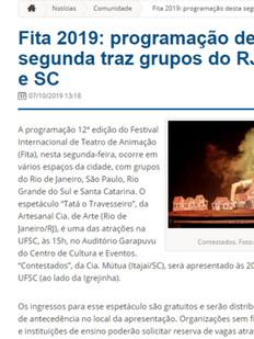 Jornal Digital Notícias da UFSC, Florianópolis/SC, 07/10/2019