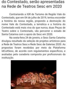 Blog Esportes em Debate, Fraiburgo/SC, 27/01/2020