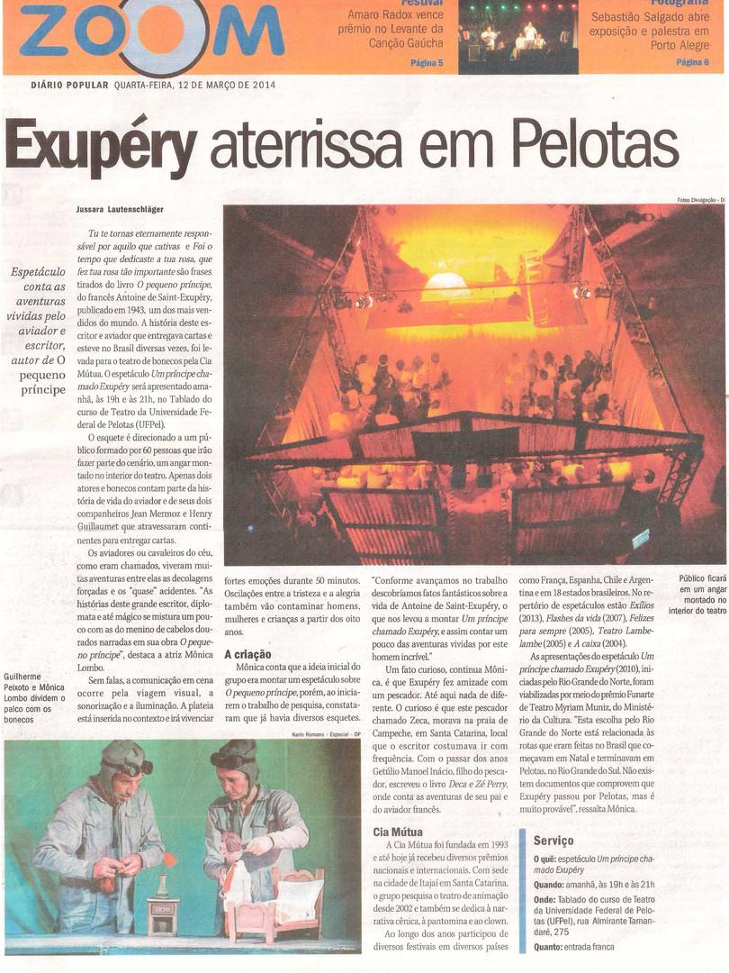 Diário Popular, Pelotas/RS, 12/03/2014