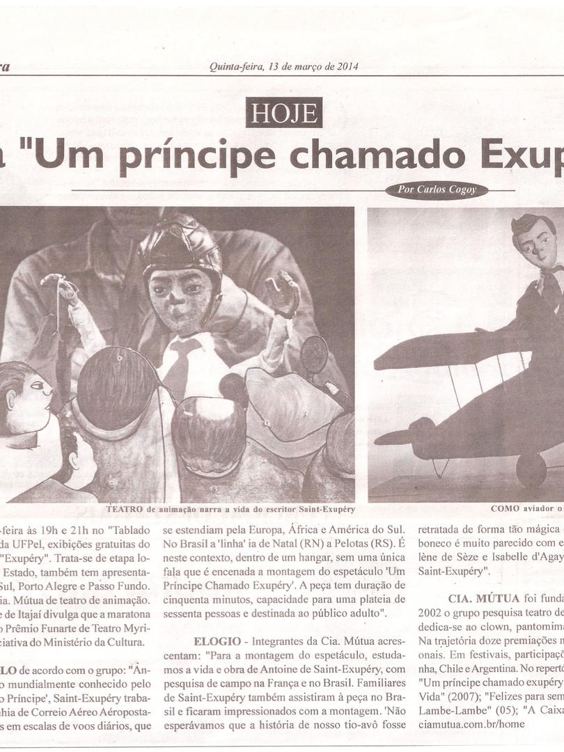 Diário da Manhã, Pelotas/RS, 13/03/2014