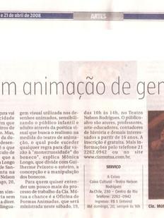Jornal do Commercio, Rio de Janeiro/RJ, 18/04/2008