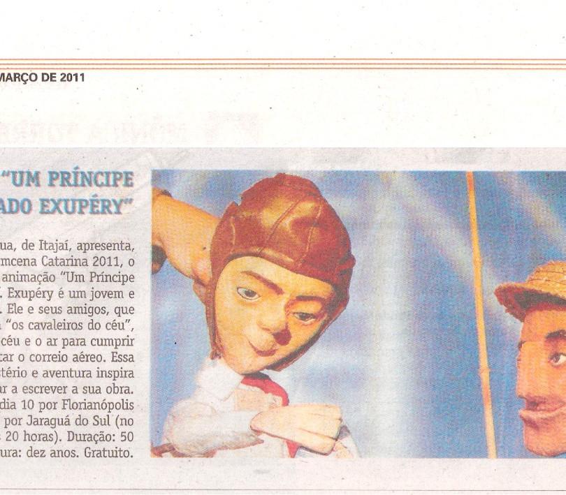 Jornal A Notícia, Joinville/SC, 15/03/2011