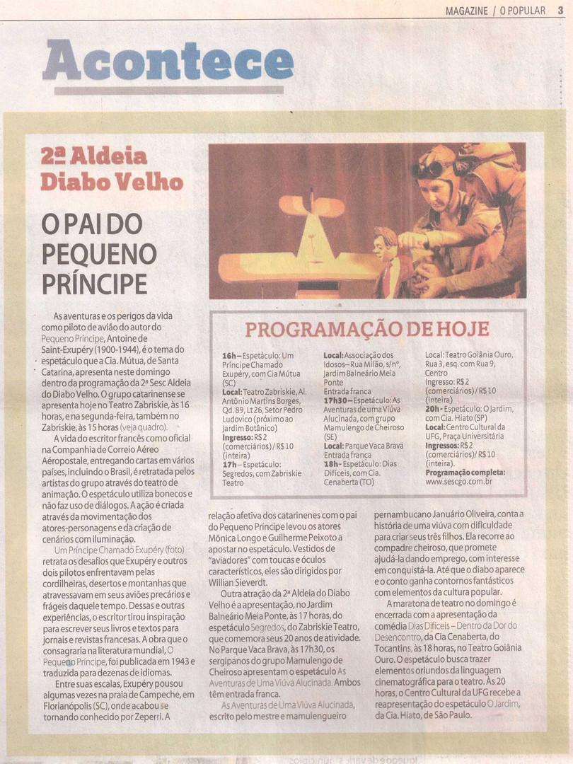 O Popular, Goiânia/GO, 28/07/2013