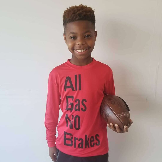 Youth-All Gas No Brakes Performance Long Sleeve
