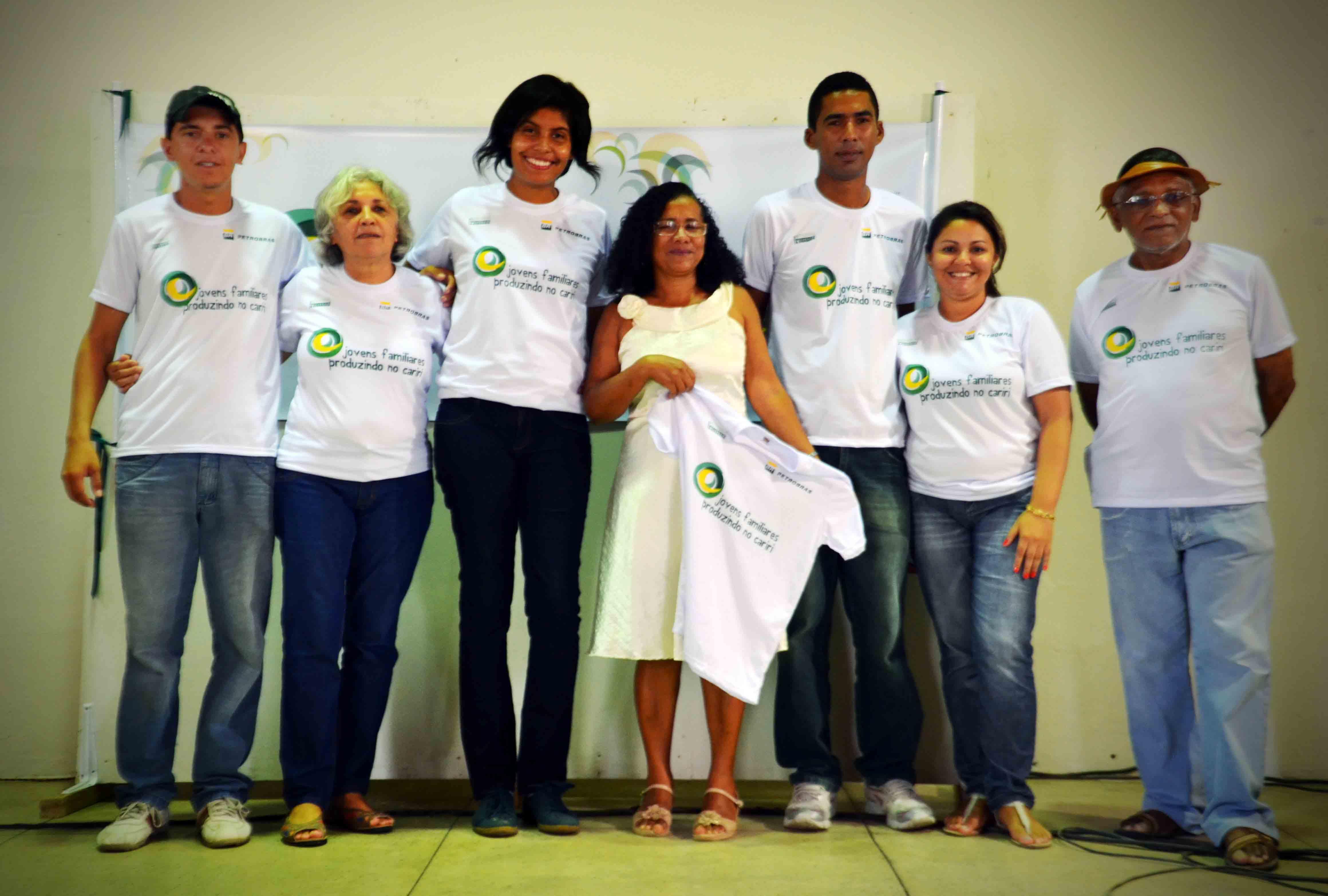 Equipe do projeto durante lançamento