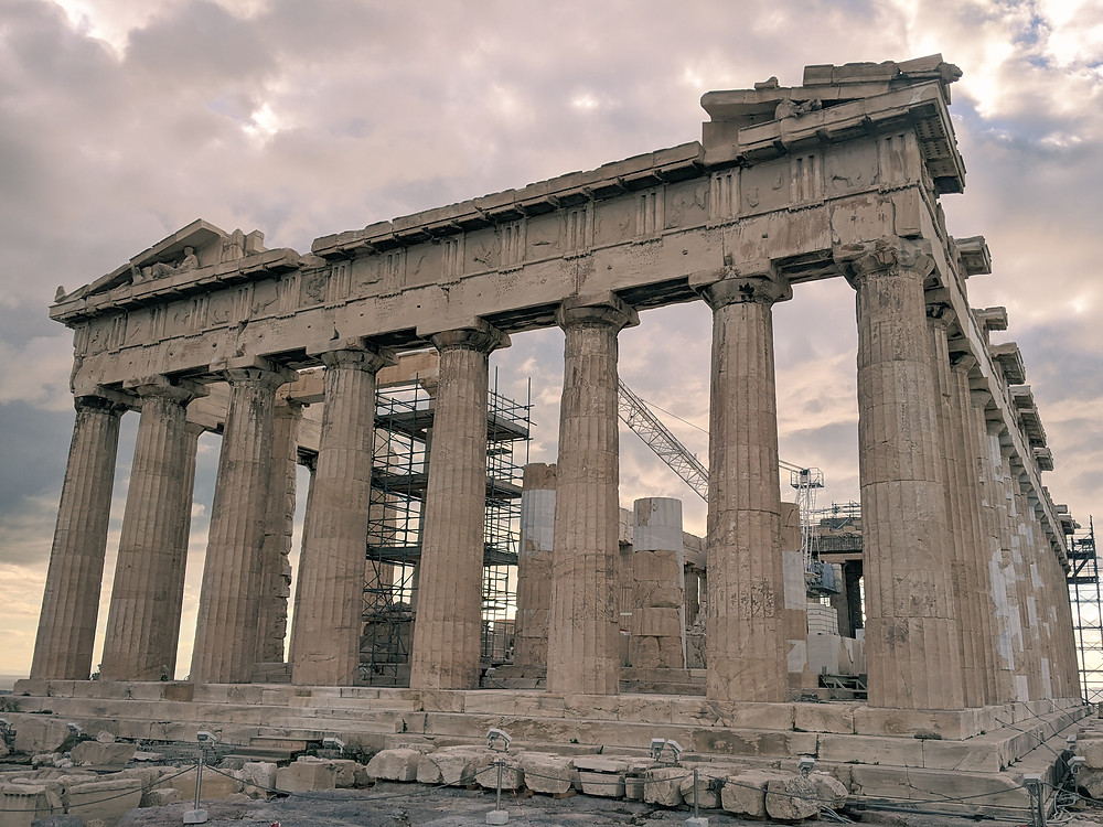 The Parthenon at the Acropolis in Athens, Greece in 2020