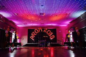 Prom Lighting in Essex - Moji Entertainer