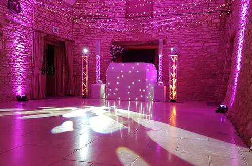 wedding lighting in Essex - MMENT