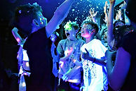 kids enjoying a disco with a snow machine - childrens entertainers in Essex - MMENT