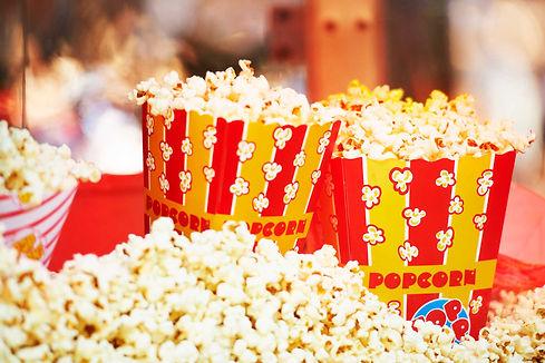 Yummy popcorn served in a popcorn box