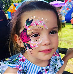 Flower face paint design - Moji Entertainer Essex