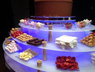 Chocolate founatin and uplighting hire Essex - MMENT