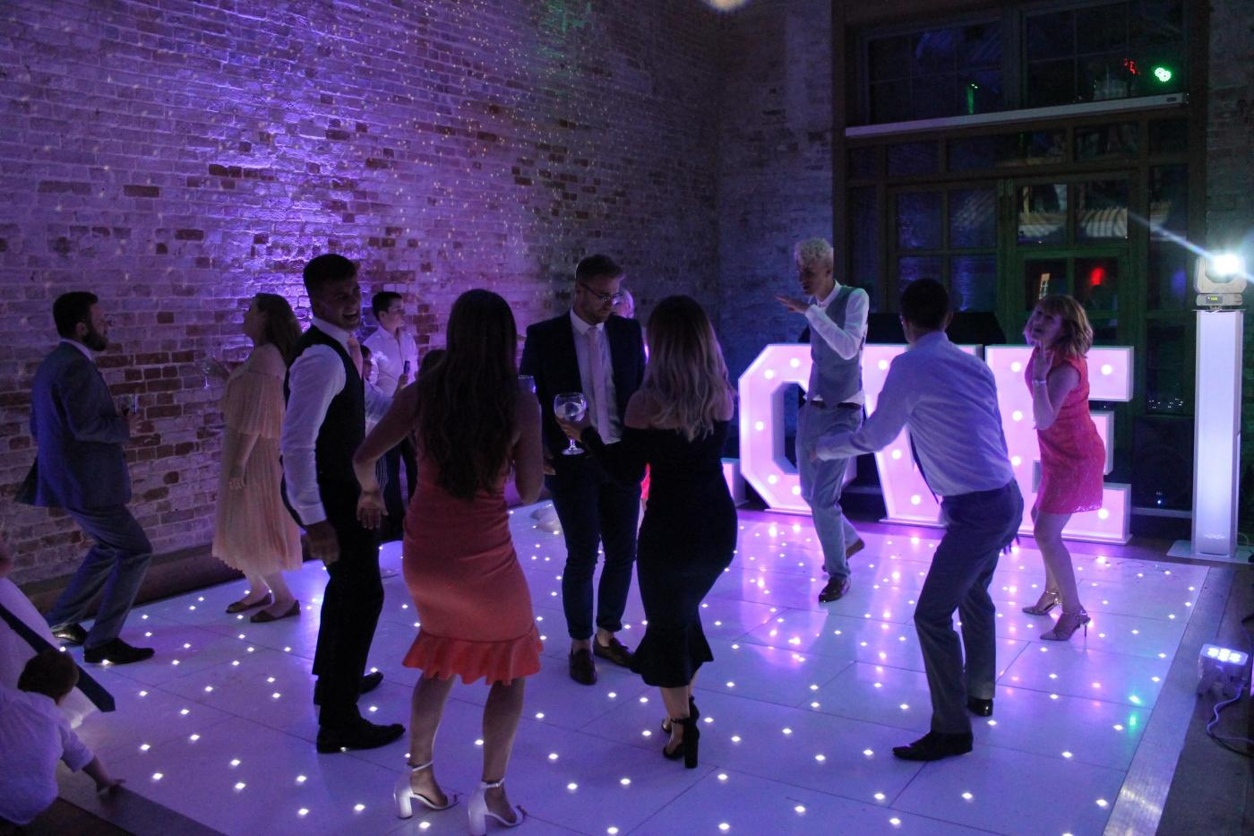 Starlit Dance floor hire in Essex - MMENT