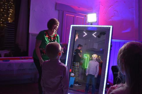 Magic selfie mirror for hire in Essex - Moji Entertainer