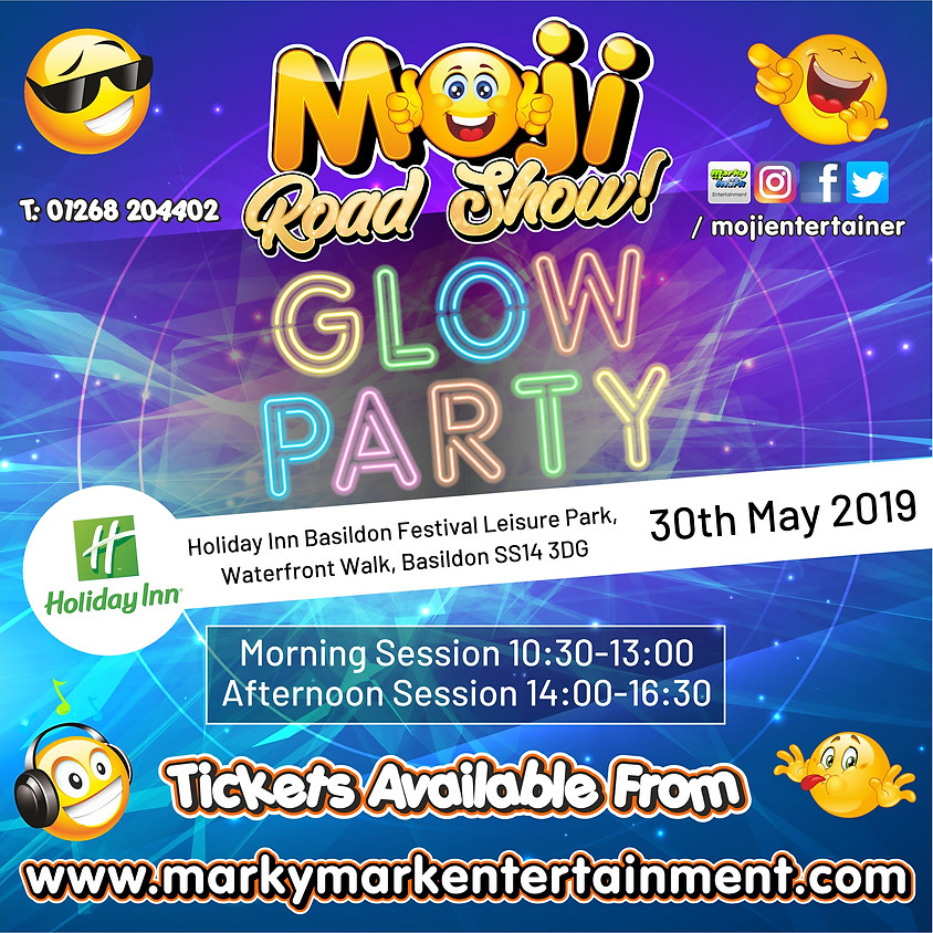 Moji Road Show Glow Party - Holiday Inn Basildon
