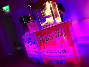 Popcorn & candy floss machines in Essex - Moji Entetainer