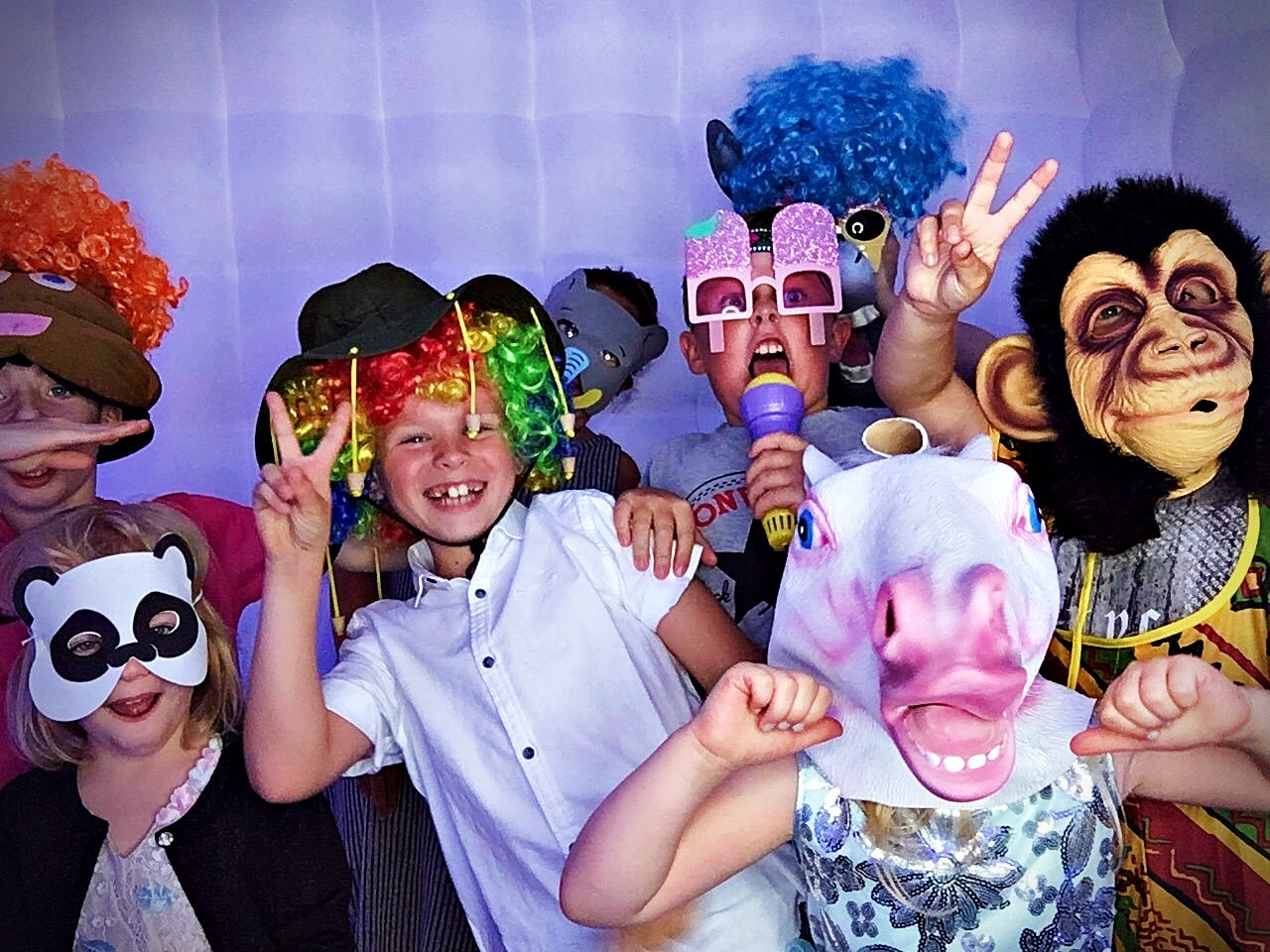 Photo booth hire for children's parties in Essex - Moji Entertainer