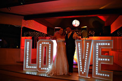 Light up letter and number hire Essex - MMENT