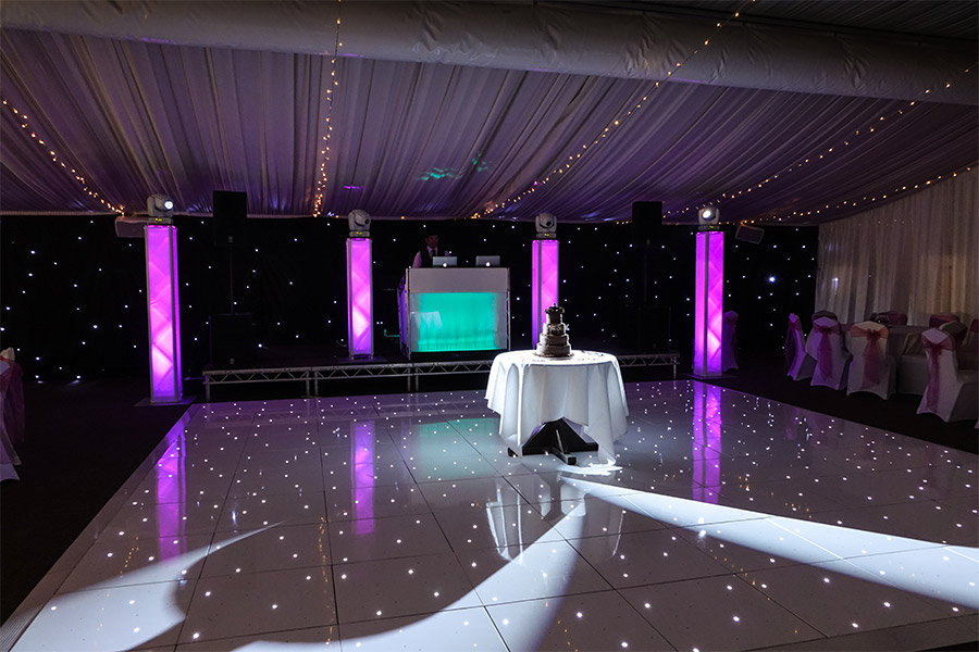 DJ and LED dance floor in Essex - MMENT