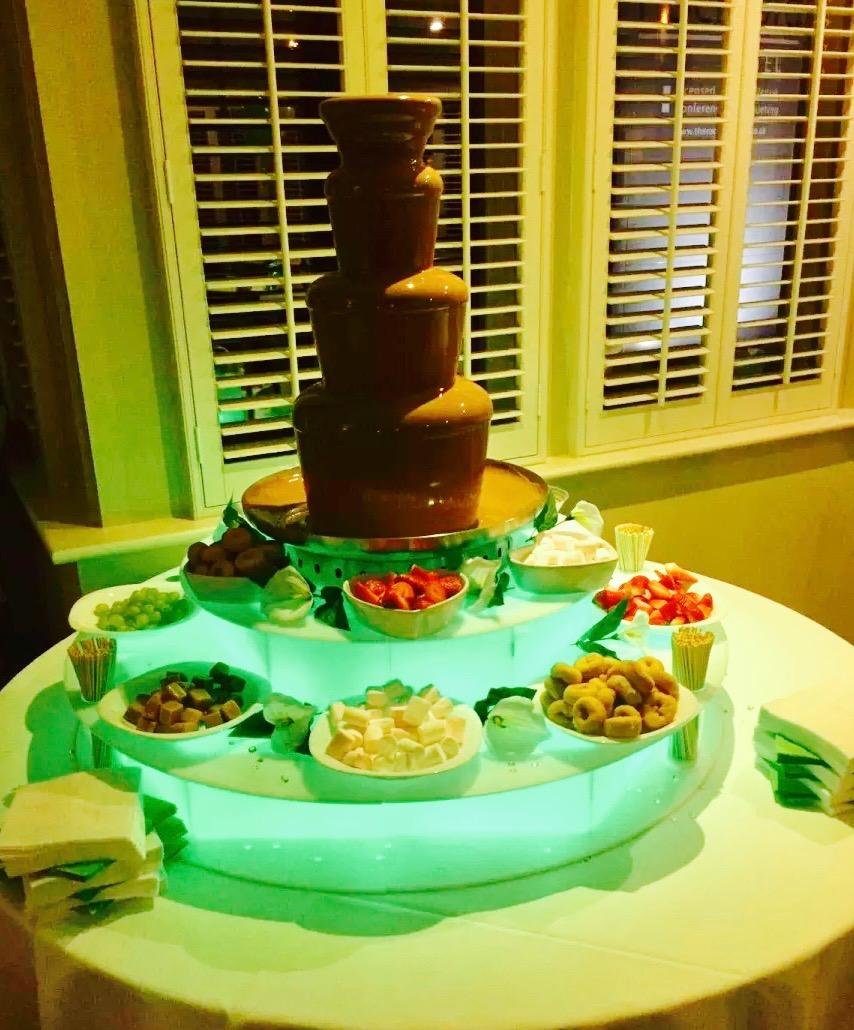 Yummy chocolate fountain hire in Essex - Moji Entertainer