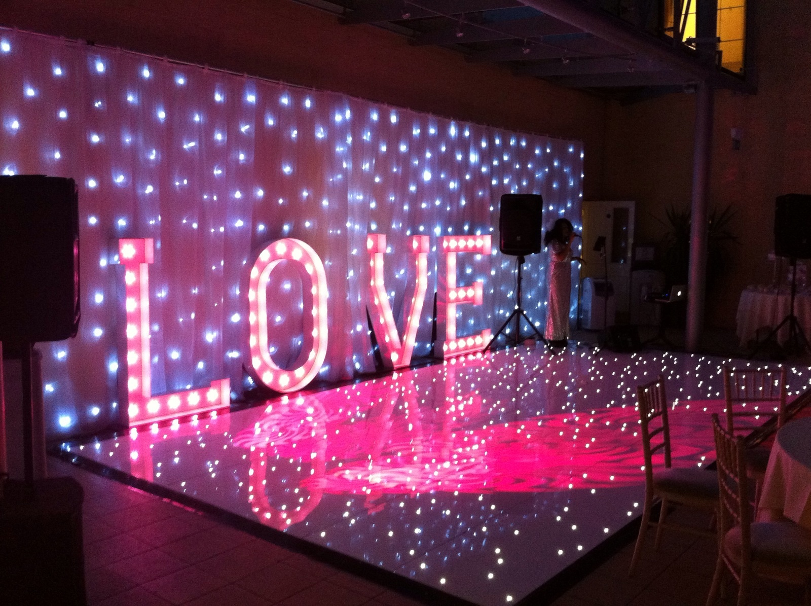 Dance Floor and Starlit Drape Essex - MMENT