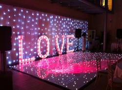 Dance Floor and Starlit Drape Essex - MMENT