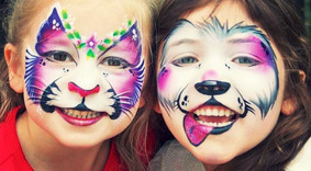 children with face painted - face painting in Essex - Moji Entetainer