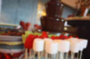 a chocolate fountain with lots of dips to choose from - chocolate fountain hire Essex - MMENT