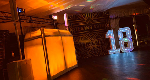 DJ and light up number hire Essex - MMENT