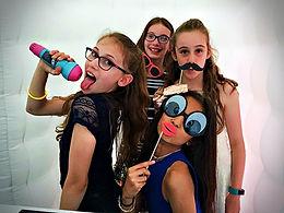Children using a photo booth in Essex - Moji Entertainer