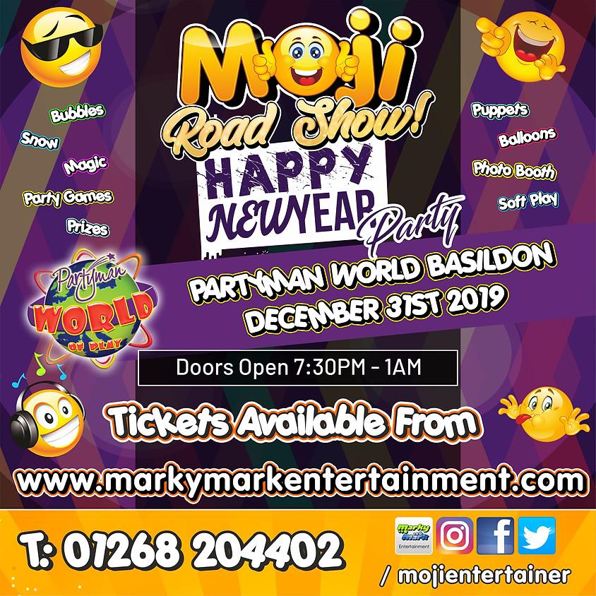 Moji Road Show NYE Party - Partyman World Basildon