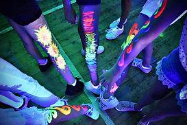 Glow in the dark body paint ideas - uv party - Moji Entertainer Essex