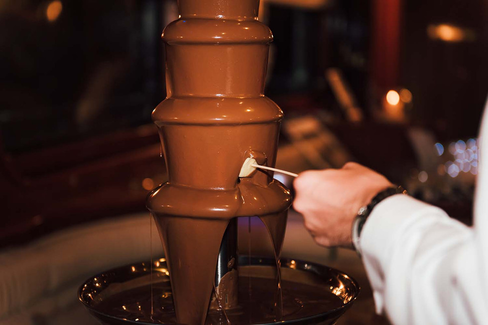 yummy chocolate fountain for hire in Essex - Moji Entertainer