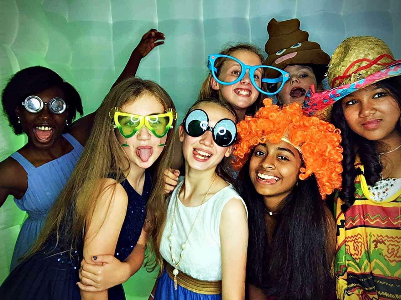 photo booths for school leavers parties in Essex - Moji Entertainer